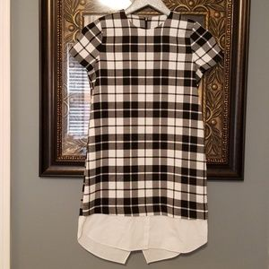 Zara Trafaluc Collection black white plaid Q115:4